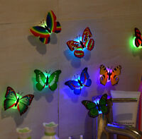 10X 3D Butterfly LED Wall Stickers Lights Home DIY Family Art Decoration Kids AU