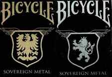 Bicycle Sovereign Metal Playing Cards 2 Deck Set - Limited Edition - SEALED