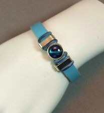 Women's Leather Bracelet With Paua Shell Slide