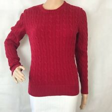 Tommy Hilfiger Women's Pullover Sweater Size M Red Long Sleeve