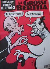 LA GROSSE BERTHA N° 72 de JUIN 1992 CABU GISCARD CHIRAC LE DIVORCE