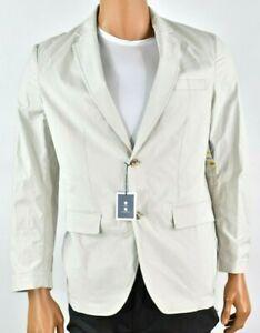 Club Room Mens Sports Coat Jacket Suit New M Beige 2 Button Cotton Summer Solid