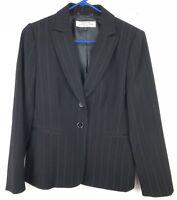 Tahari Arthur S Levine ASL Petite Womens Blazer Jacket 2 Button Size 6P Black