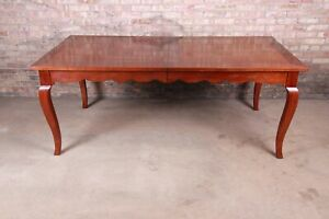 French Provincial Solid Cherry Extension Dining Table by Wright Table Company