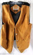 Vtg Paragraff Clothing Button Up Brown Suede Rockabilly Leather Vest Men's M