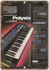 "Korg Polysix Keyboard Vintage Ad 10"" x 7"" Reproduction Metal Sign E11"