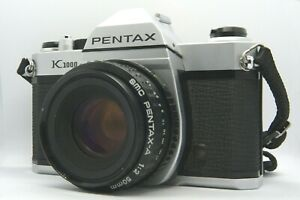 VINTAGE Pentax K1000 SLR 35mm film camera w/ Pentax-A 50mm f2 + case, VCG
