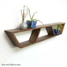 Mid Century Modern Shelf, Book Shelves, Floating Mantle Shelf,Trapezoid Shelf