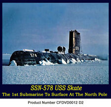 USS-Skate SS-578 Nuclear Submarine Film Story N. Pole  Free shipping in USA