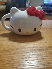 Hello Kitty Sculpted Ceramic Mug, Red Bow, 18 oz Mug, Vandor New in Box