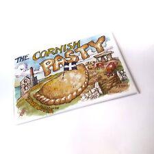 THE CORNISH PASTY CORNWALL TIN FRIDGE MAGNET SOUVENIR POSTCARD 7.5 X 4.5CM