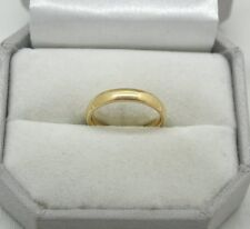 nice quality secondhand Plain Narrow 22ct Gold Wedding Ring finger size j