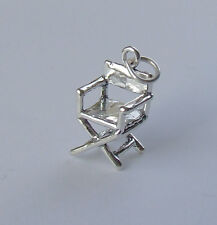 DIRECTORS CHAIR FILM MAKING CINEMA 3D CHARM 925 STERLING SILVER