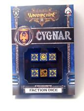 Warmachine: Cygnar Faction Dice, NEW