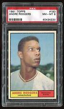1961 Topps #183 Andre Rodgers *Braves* PSA 8 NM-MT Cert #40434220