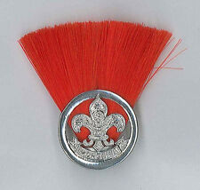SCOUTS OF MONGOLIA - ASSISTANT SCOUT LEADER (RED COLOUR) Metal Plume / Hat Patch