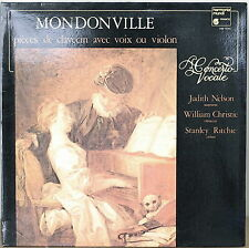 MONDONVILLE: Harpsichord Pieces with Voice or Violin-M1980LP FRENCH IMPORT