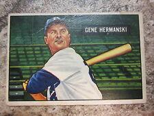1951 Bowman #55 Gene Hermanski Baseball Card, Brooklyn Dodgers Outfield