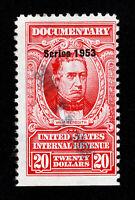 U.S. REVENUE STAMP $20 MEREDITH SCOTT #R644 USED DATESTAMP CANCEL (SCV=$22.50)