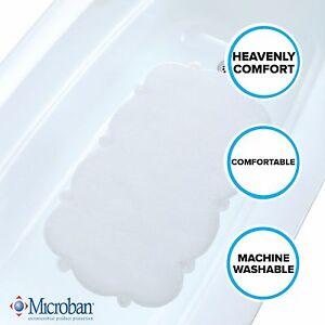 Clear Cloud Bath Mat: Soft, Mildew Resistant Tub Mat with Suction Cups