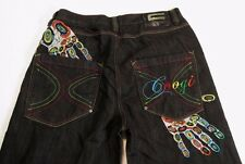 Men's COOGI Australia Jeans 40 x 33 Tagged 40 x 34 Embroidered hand print VGC