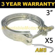 """5x V-BAND Esterno Morsetti in acciaio inox tubo di scarico Turbo 3"""" 76mm"""