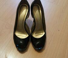 moda in pelle high heels shoes 38