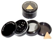 SMART CRUSHER 4 Piece Titanium Magnetic Spice Coffee Tobacco Herb Grinder Black