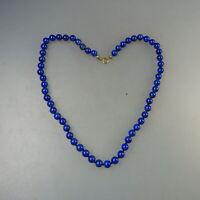 Lapislazuli-Perlen Kette Handarbeit 46 cm - ungetragen (58176)