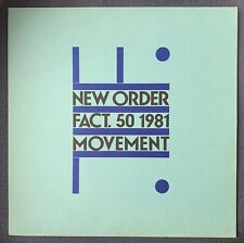 NEW ORDER Movement LP UK FACTORY 1st PRESS