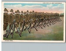 Postcard WW1 Stacked Arms Life In The U.S. Army Cantonment