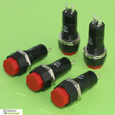 5x Einbau Geräte Netz Taster 230V 1A 1-Pol,Raster Einbautaster Druckschalter(241