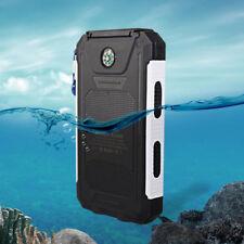 DCAE 10000mAh Solar Power Bank 2USB 2LED Waterproof Phone Backup Battery Charger