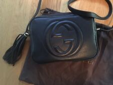 GUCCI SOHO SMALL LEATHER DISCO BAG  BLACK  AUTHENTIC Retails for $1190