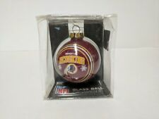 NFL WASHINGTON REDSKINS GLASS BALL CHRISTMAS ORNAMENT  NEW  FOREVER COLLECTIBLES