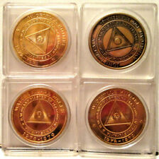 Vintage Lot, Four (4) Grand Master of Masons, Masonic Temple Philadelphia Medals