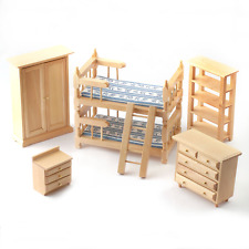 Dolls House Bedroom With Bunk Beds 12th 1:12 Scale Bedroom For Dollshouse DF813P