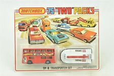 Matchbox TP-8 Transporter Set 1975 Two Packs London Bus Hovercraft