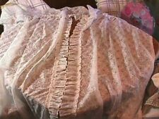 Vintage White Floral Lace Ruffled Shower Curtain