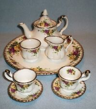 Royal Albert 2002 Old Country Roses Miniature Child's Teaset Tea Set