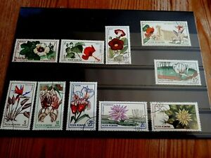 1965 Romania Full Set Of 10 Stamps - Flowers From Cluj Botanical Gardens - PC/NH