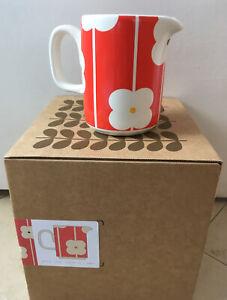 "ORLA KIELY HOME red ""Abacus Flowers"" 0.35L milk jug / creamer - BNIB"