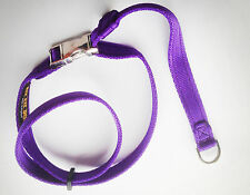 Dog Head Collar figure of 8 Fast Fit Metal Clip with felt sleeve