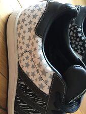 Adidas Ginnastica Nero Grigio Bianco Stelle tutti Stars Superstars UK 9 SUPER