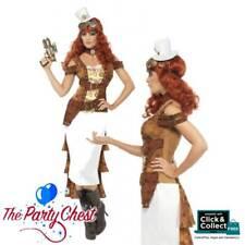ADULT STEAM PUNK WILD WEST AGENT TEMPTRESS Ladies Fancy Dress Costume Outfit