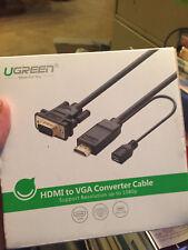 Ugreen Active HDMI a VGA plano adaptador convertidor cable soporte 1920x1080 @