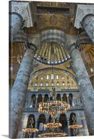 Inside The Hagia Sophia Canvas Wall Art Print, Istanbul Home Decor