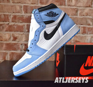 Nike Air Jordan 1 Retro High OG University Blue GS Men Size 555088-134
