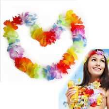 10 X Hawaiian Tropical Flower Garlands Floral Fancy Dress Necklace Party Wedding