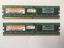 X2 1 GB HYNIX HYMP 512R72P4-E3 AA-una memoria de servidor DDR2 ECC PC2-3200R 400MHz240-Pin